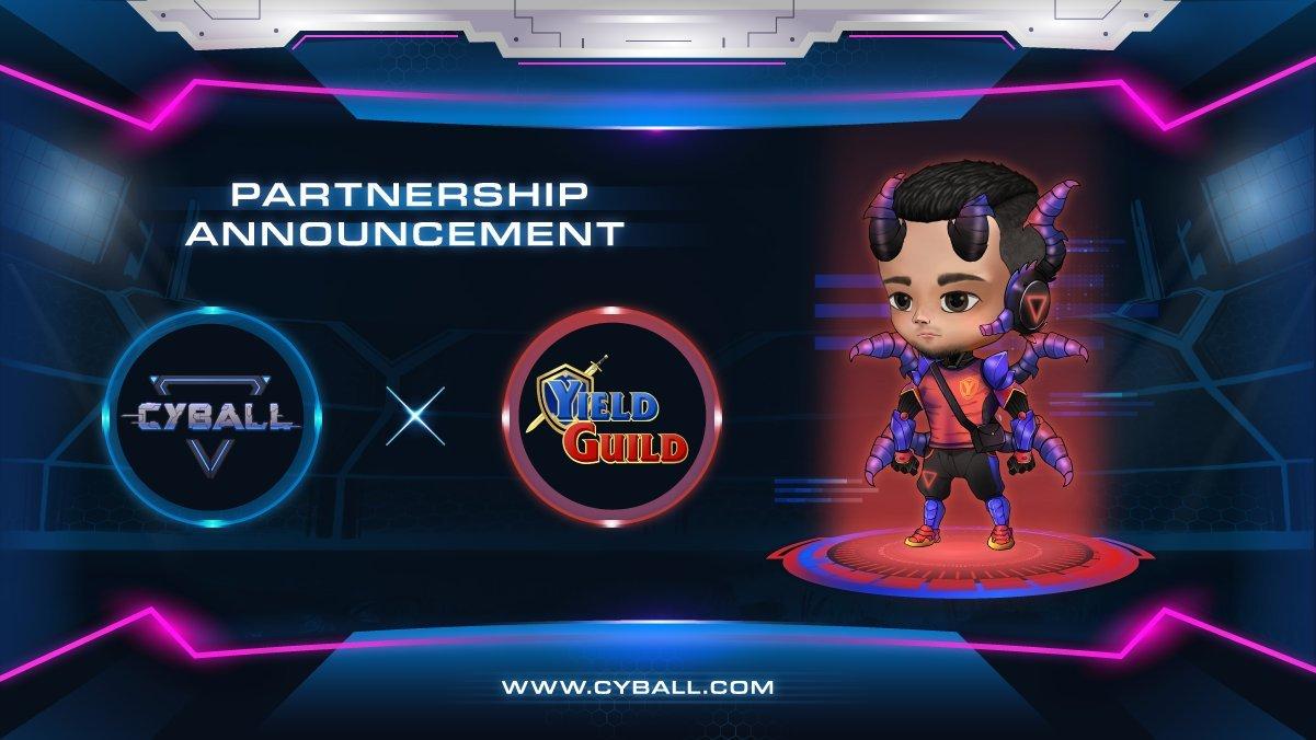 CyBall x Yield Guild Games Strategic Partnership | P2E News